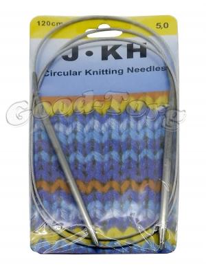 Спицы для вязания на тросике, вязальные спицы 5.0 мм