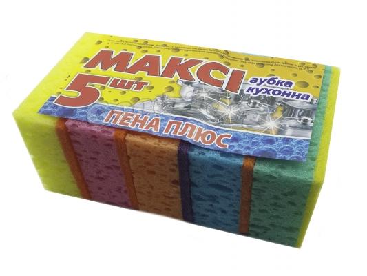 Губка кухонная Макси пористая - сыр 1 уп. = 5 шт.