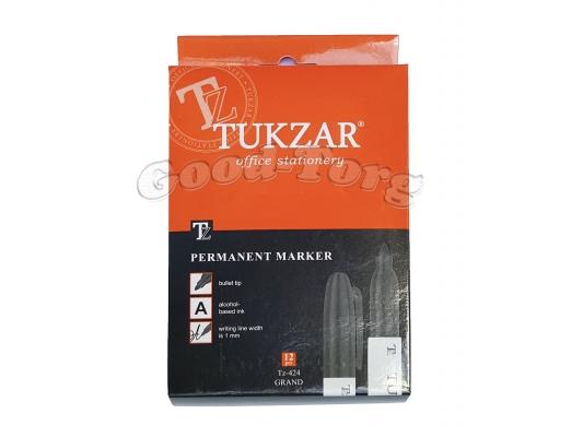 Маркер перманентный большой,тонкий Tukzar 424, 1 уп. = 12 шт.