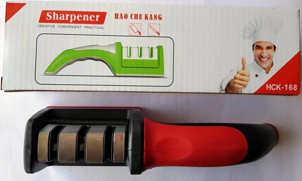 Точилка для нож красночерная ручка. 22 см.