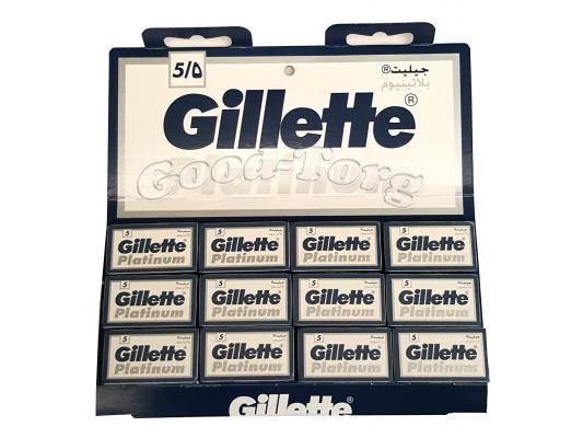 Лезвия Gillette Platinum -оригинал 20пач.×5шт.(ОАЭ)