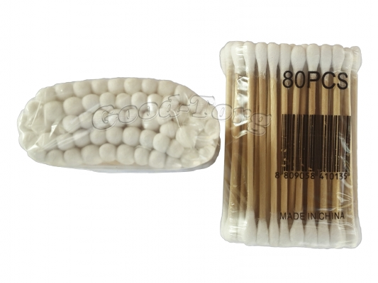 Ватные палочки 80 шт., в пачке 24 мелких пачек