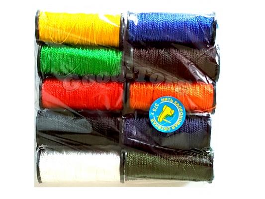 Нить обувная цветная (10 шт.) ( продажа упаковкой )