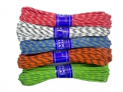 Шнур веревка диам. 4 плетеный с наполнителем 15 метров