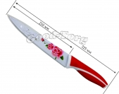 Нож металлокерамика, широкая, рисунок