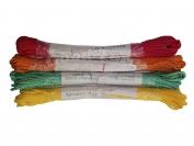Шнур веревка витой бытовой В-21 цветной дл. 10 м.