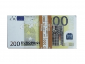 Сувенирные деньги 200 евро  1 уп. = 80 шт.