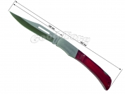 Нож складной в чехле №3, 265 мм., большой, пластиковая бордовая ручка