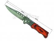 Нож выкидной №2, 210 мм., средний, деревянная коричневая ручка (в пачке 12 шт.)