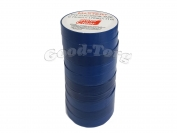 Изолента ПВХ Master+ синий 11м. (в пачке 10шт. продажа пачкой)