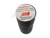 Изолента ПВХ Master+ черный 25м. (в пачке 10шт. продажа пачкой)