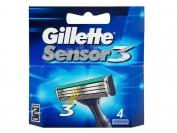 Картриджи Gillette Sensor 3, оригинал, 1 уп.=4шт. (Германия)