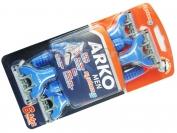 Одноразовый станок ARKO MEN, 3 лезвия + плавающая головка, оригинал, 1 уп = 6 шт. (Турция)