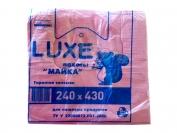 Пакет майка, Luxe, 240×430, для пищевых продуктов, 100 шт.