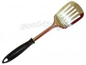Кухонный набор лопатка ( с отверстиями ) с черной ручкой  дл.34см