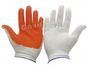 Перчатки стрейчевые оранжевые 12 пар. (продажа пачкой)